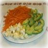 Salade de Carottes, Avocats, Reblochon à l'Orange
