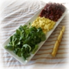 Salade de Mâche, Betteraves, Oeufs Mimosas