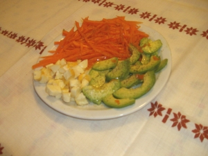 Salade de Carottes, Avocats, Reblochon à l'Orange - image 1