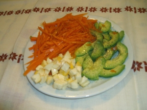 Salade de carottes avocats reblochon l 39 orange entr e for Entree sympa entre amis