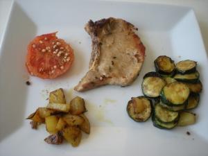 Côtes de Porc  et ses Légumes façon Plancha - image 1
