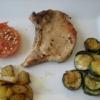 Recette Côtes de Porc  et ses Légumes façon Plancha (Plat complet - Etranger)