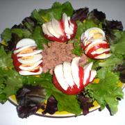 Salade de Tomates, Oeufs, Mozzarella
