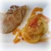 Recette Côtes de Porc aux Courgettes Jaunes, Poivron Orange et Tomates (Plat complet - Cuisine familiale)