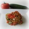 Mille-Feuille de Tomates, Courgettes, Viande