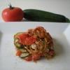 Recette Mille-Feuille de Tomates, Courgettes, Viande (Plat complet - Cuisine allégée)