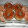 """Recette Verrrines """"de Crevettes aux Oeufs de Saumon"""" (Apéritif - Gastronomique)"""