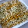 Recette Crevettes aux Spaghettis de Légumes (Plat complet - Les Nouvelles Diététiques)