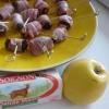 Recette Pruneaux Roulés au Lard Coeurs de Pomme et Fromage de Chèvre (Apéritif - Entre amis)