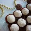 Recette Boules de Noël (Coco fondant-Coeur Gianduja) (Dessert - Gastronomique)