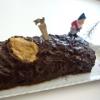 Recette Bûche aux Marrons Glacés Couverture Chocolat (Dessert - Gastronomique)