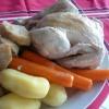 Recette Poule au Blanc (Normandie) (Plat complet - Cuisine familiale)